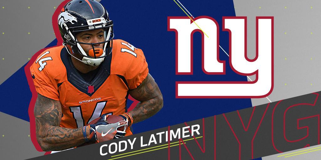 Giants sign WR Cody Latimer: https://t.co/TBGwvonQwA https://t.co/fZKdUh9a2z