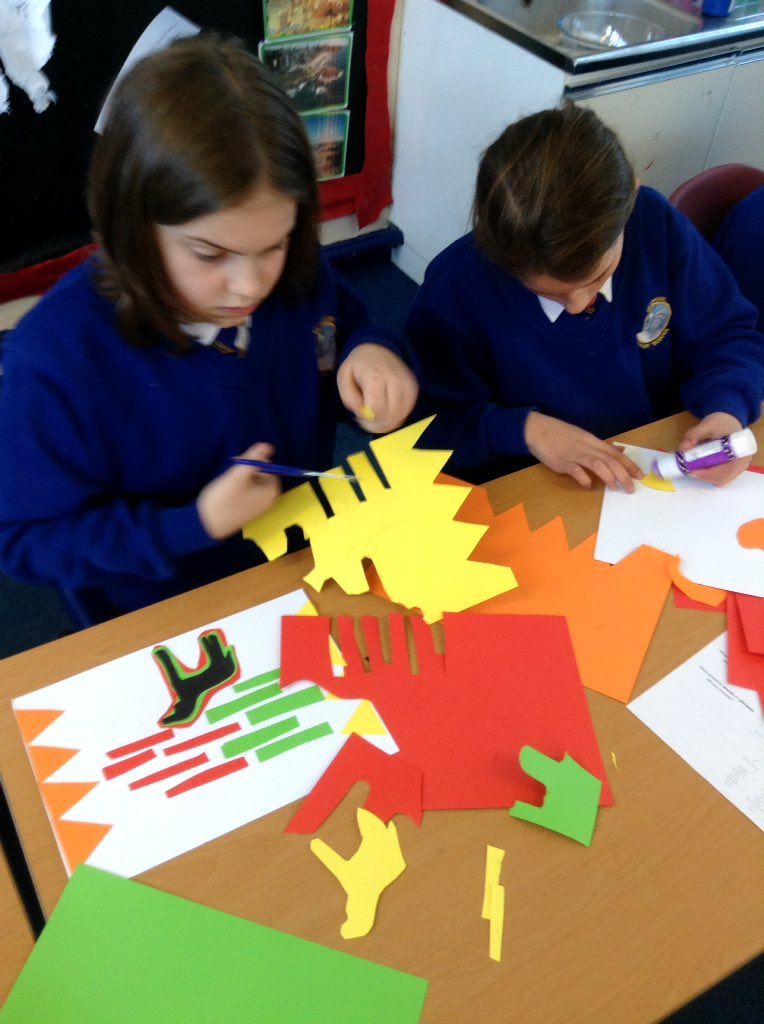 Year 5 creating their own mola art, inspired by the Indians of Colombia #southamerica #creativity