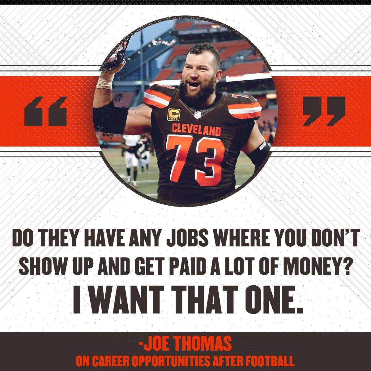 Life goals from Joe Thomas 😂  (h/t @Andr...