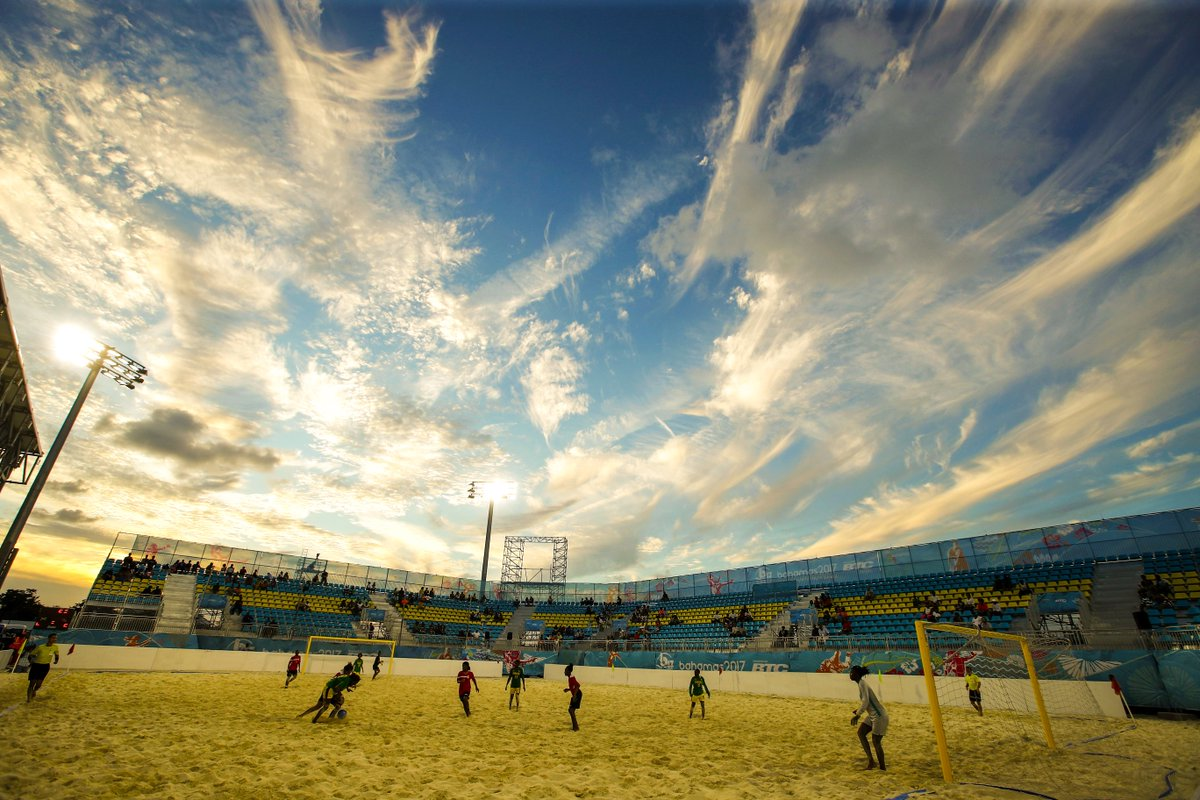 Beach football at the 2017 Youth Commonwealth Games in the Bahamas 😍