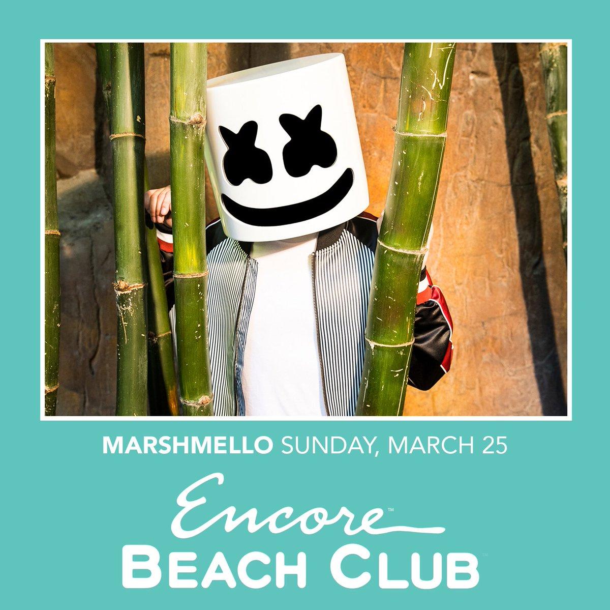 Excited for @EncoreBeachClub this weekend! Tix: wyn.lv/2Marshmello