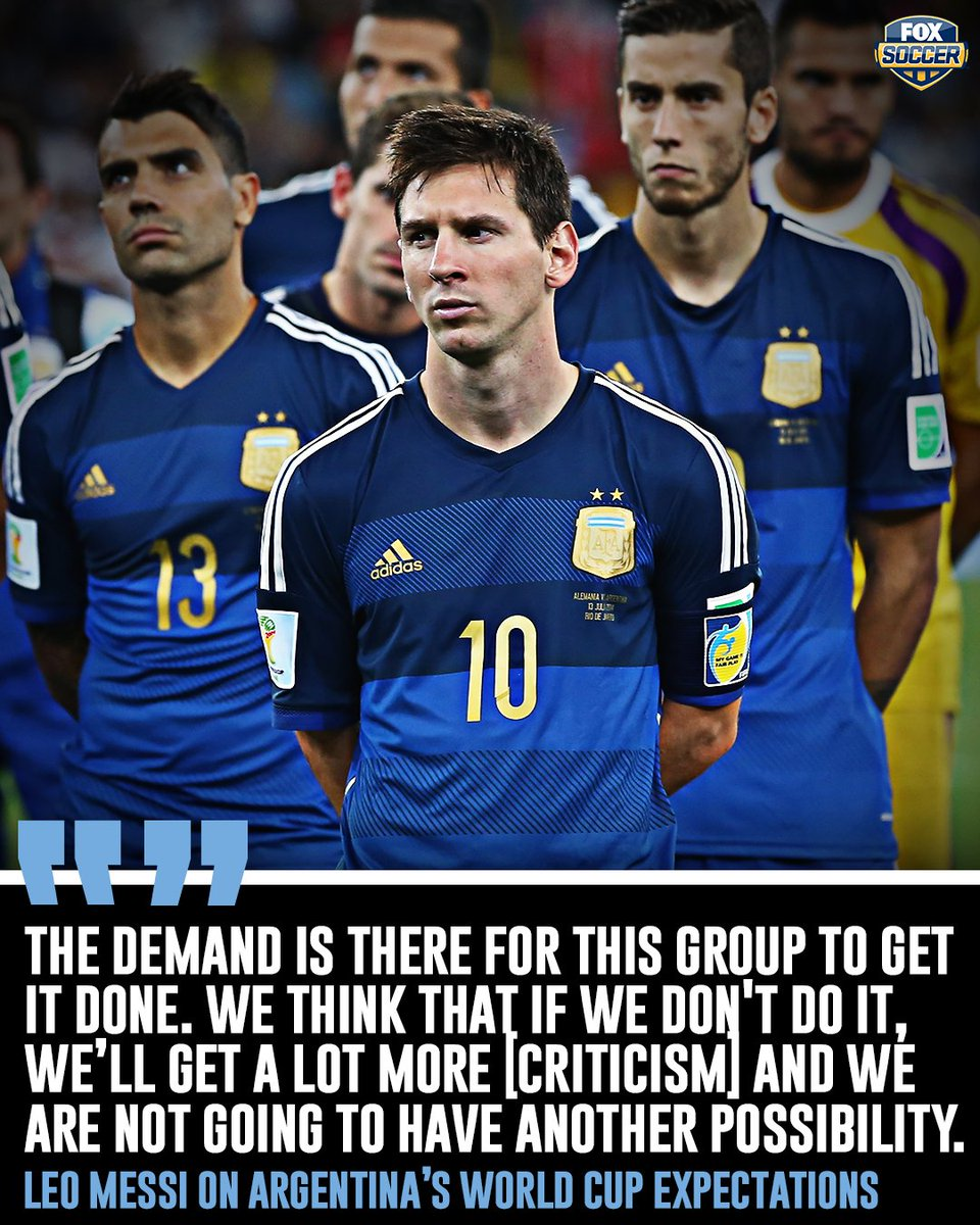 Is this Messis last chance to win the World Cup?