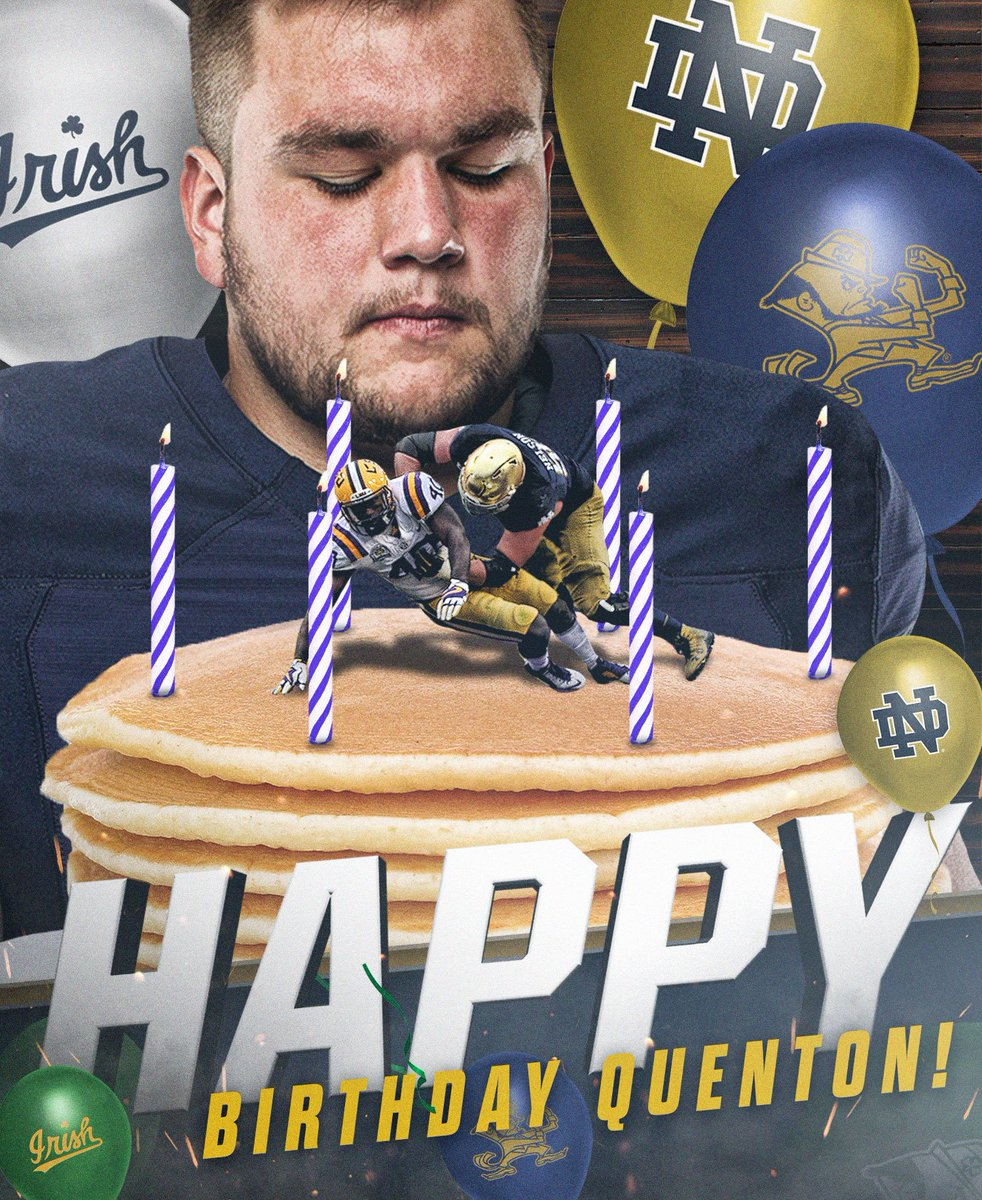 Happy Birthday, Q! 🎉 We got you a 🥞 cake. #GoIrish ☘