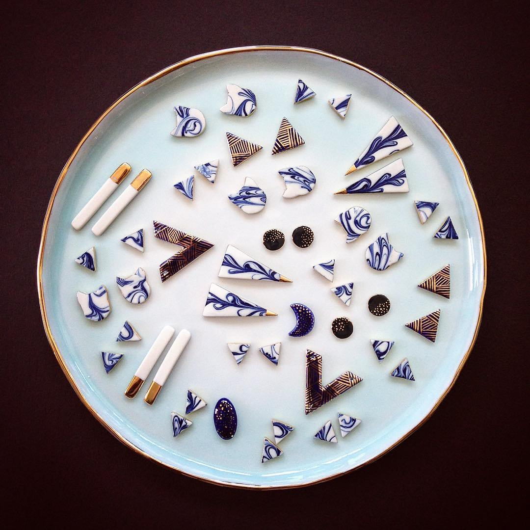 A dream collection of porcelain jewelry....