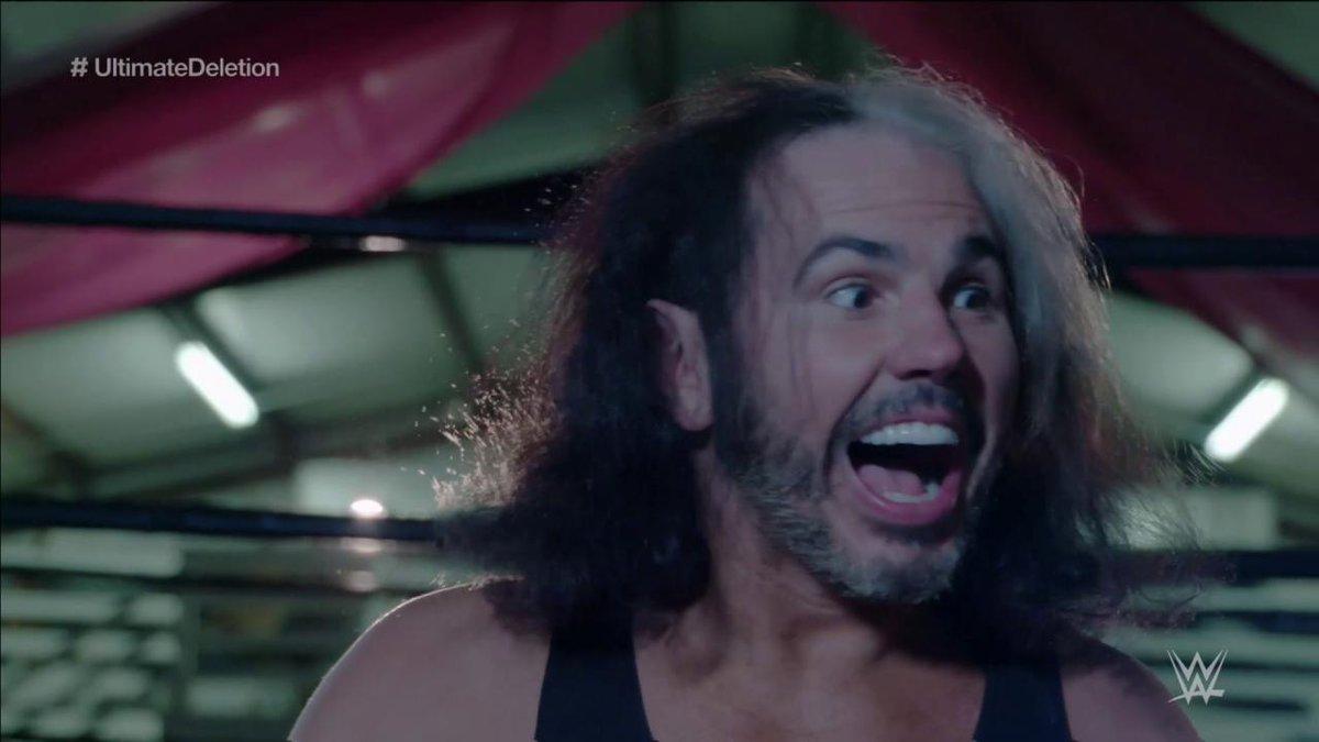 Shall WOKEN @MATTHARDYBRAND pick the #ChairOfWheels or #MowerOfLawns to DELETE @WWEBrayWyatt? MOWER of LAWNS, it is! WONDERFUL! #UltimateDELETION #RAW