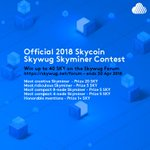 Image for the Tweet beginning: Enter the official 2018 Skycoin