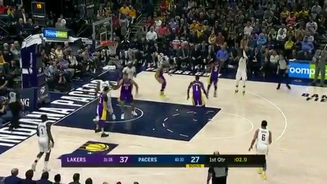Oladipo ends Q1 in style!   #Pacers https://t.co/0u5hJm10DM