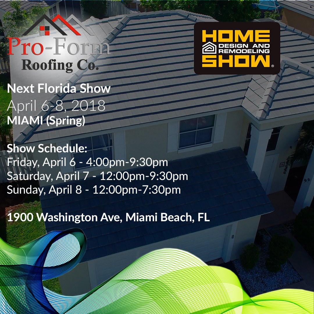 Pro Form Roofing Co On Twitter Join Us At The Miami Beach
