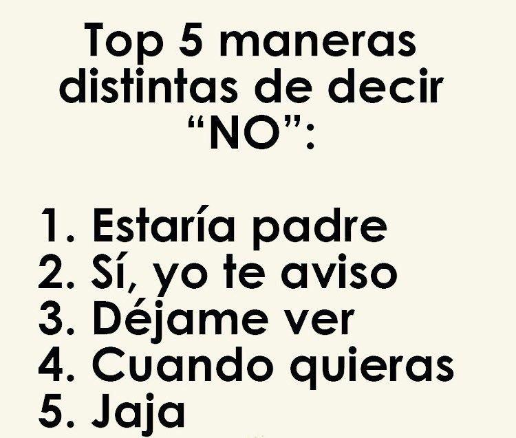 #HoyDePlano Aprenderé A Decir No... Jaja...