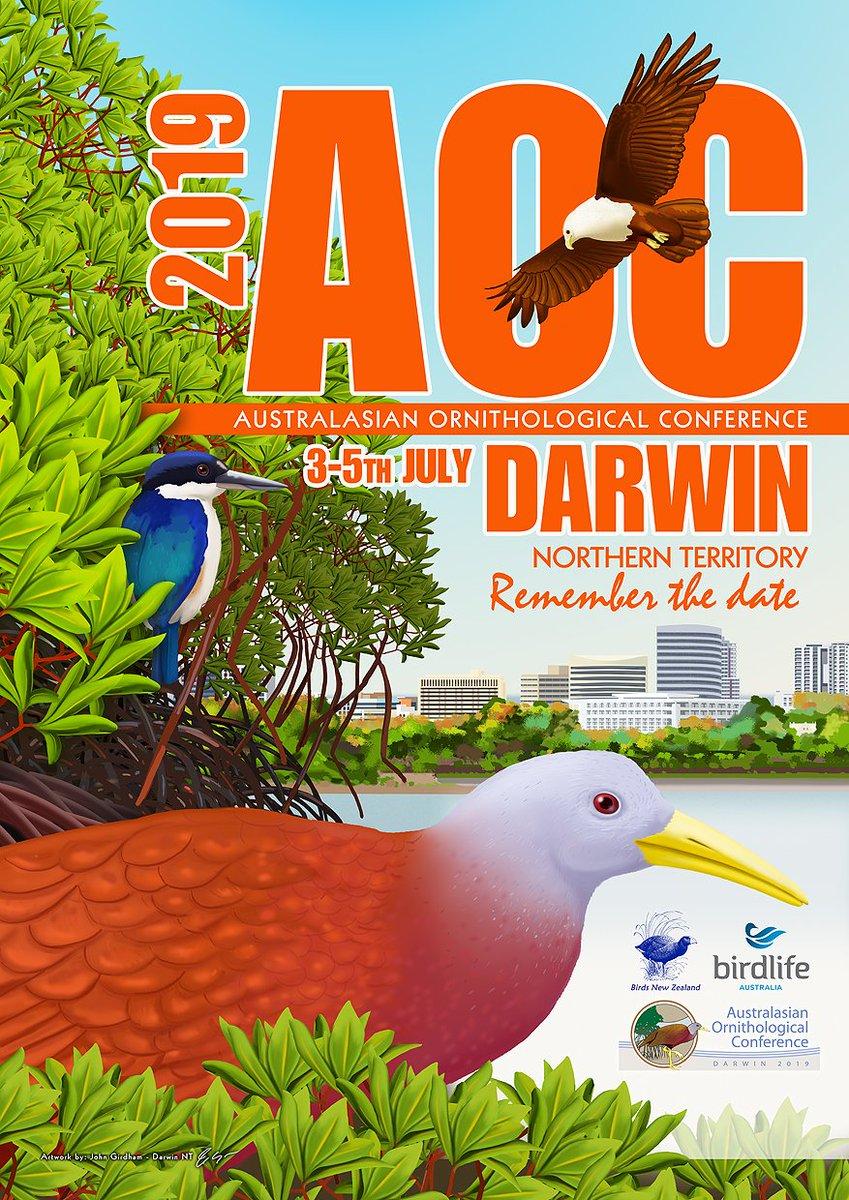Remember the date! Australasian #Ornithological Conference 2019 #Darwin #ornithology #birds #NorthernTerritory #AOC2019 @BirdlifeOz @OSNZBirdsNZ
