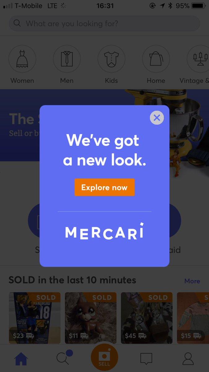 メルカリUS版、アイコン/ロゴ/色など刷新しました🎉世界中でより愛されるアプリになるように、引き続きがんばります🙇♂️  #メルカリUS #re-branding