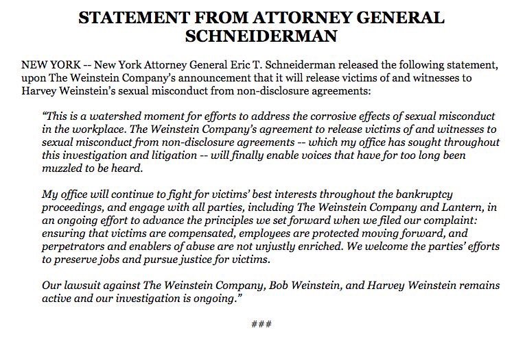 Ashlee Mullany On Twitter The Weinstein Company Has Filed