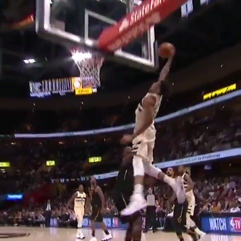 LeBron James (40 PTS, 12 REB, 10 AST) and Giannis Antetokounmpo (37 PTS, 11 REB, 5 AST) duel in Cleveland! https://t.co/6RZ0L5hgDM