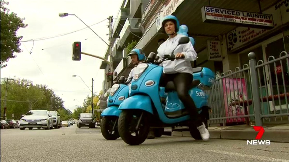 Image for the Tweet beginning: Australia's first scooter taxi service
