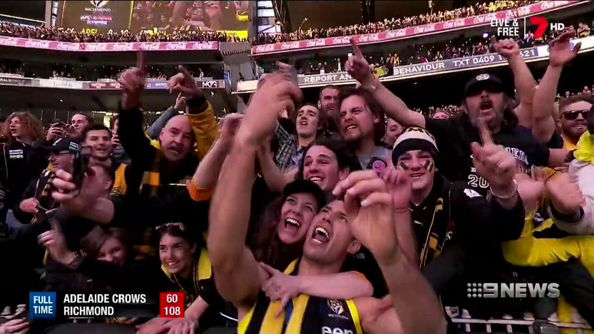 Image for the Tweet beginning: Alex Rance says the hunger