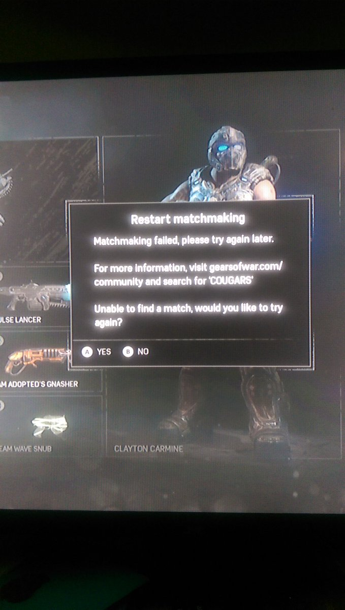 gears of war 3 matchmaking not working