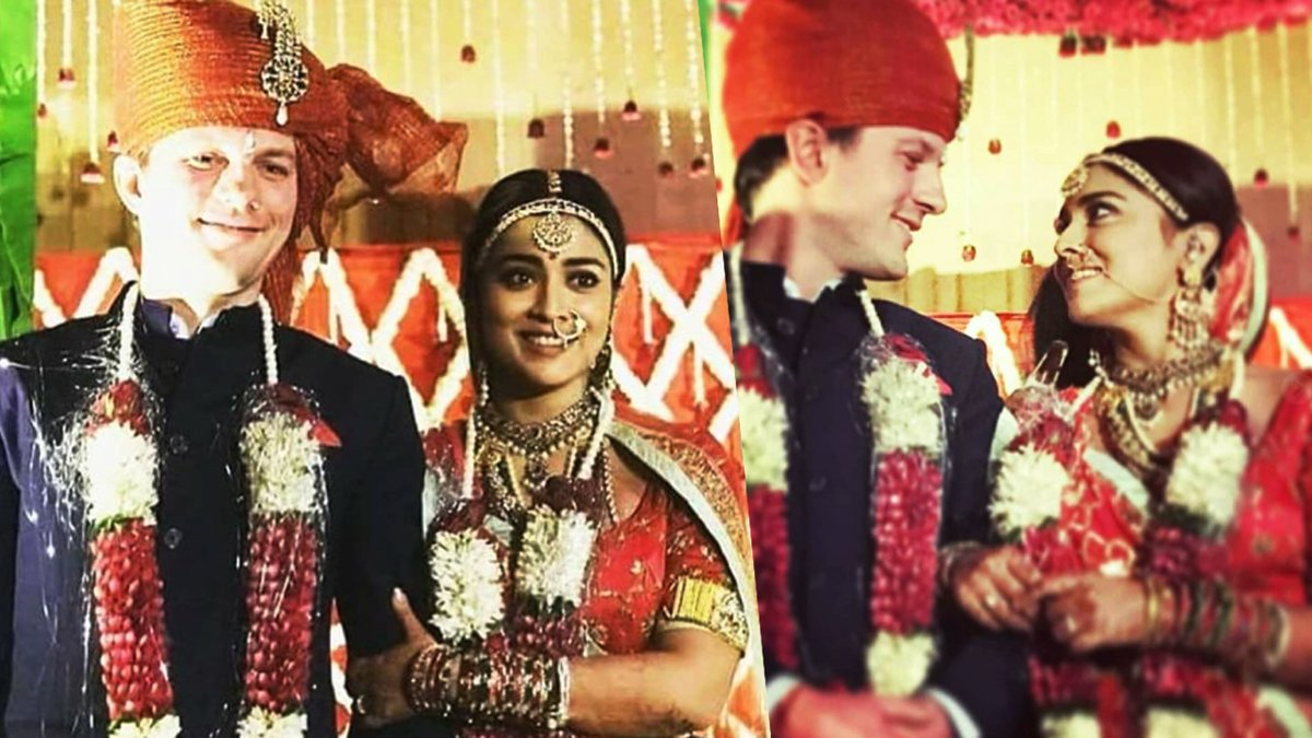 Shriya Saran and Andrei Koscheev marriage photos
