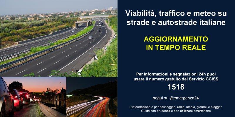 [20.03-06:00] #Italia aggiornamenti in tempo reale su #VIABILITA\