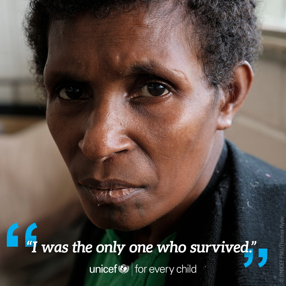 """""""They ran out first and got buried by the landslide."""" This mother lost all seven of her children and her husband when a massive earthquake struck their village in #PNG"""