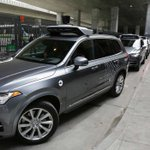 Image for the Tweet beginning: Uber suspends self-driving car tests
