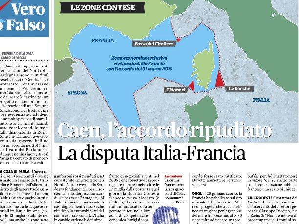 Un giorno esiste...il giorno dopo no....il trattato di #Caenintanto la #Francia ridisegna i confini....e con silenzio/assenso dell' #Italia si prende mare di #Sardegna importante per la #pescama per trivellare: qualcosa non torna: giusto???  - Ukustom