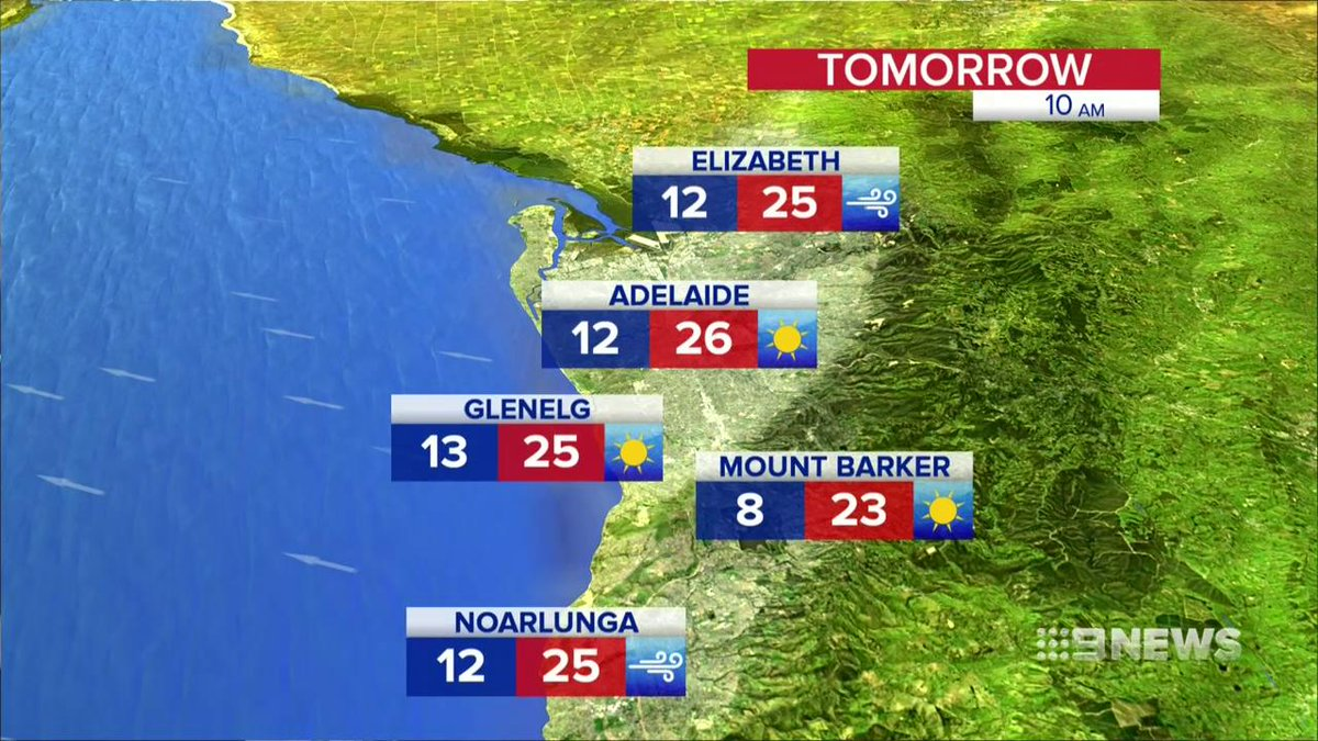 Image for the Tweet beginning: WEATHER: Adelaide can expect a