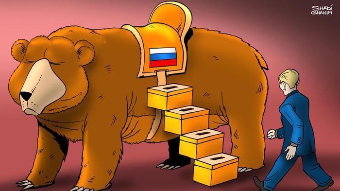 карикатура четвертый срок Путина