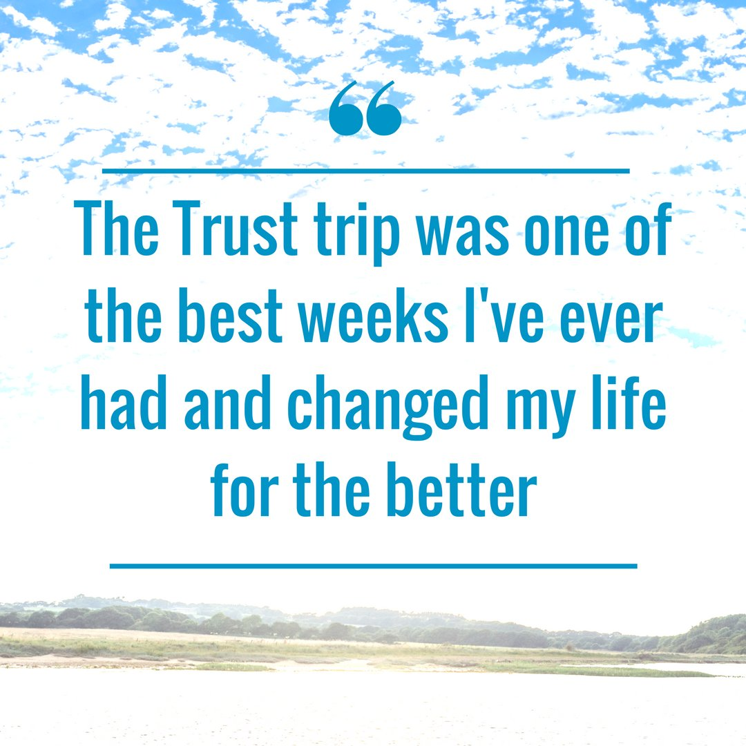 Today is #InternationDayofHappiness The incredible feedback we receive from the young people and their families never fails to make us happy.  We love hearing your memories of Trust trips and how it's helped you rebuild your #ConfidenceafterCancer