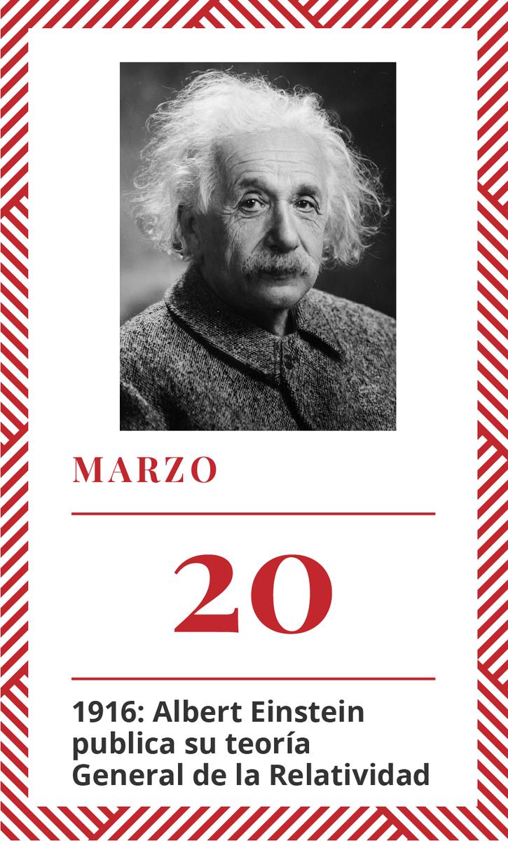 #TalDiaComoHoy en 1916: Albert Einstein...