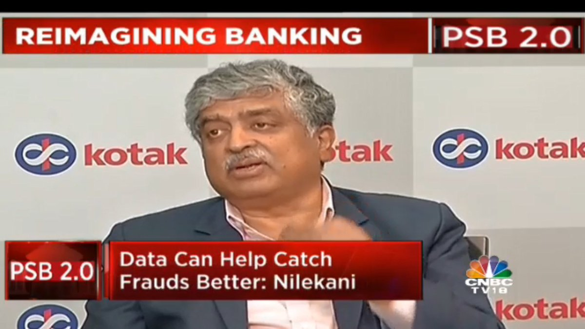 PSB 2.0 | @NandanNilekani To CNBC-TV18: We do see a lot of challenges in the banking system today, & we have a chance to rebuild the system with the use of data