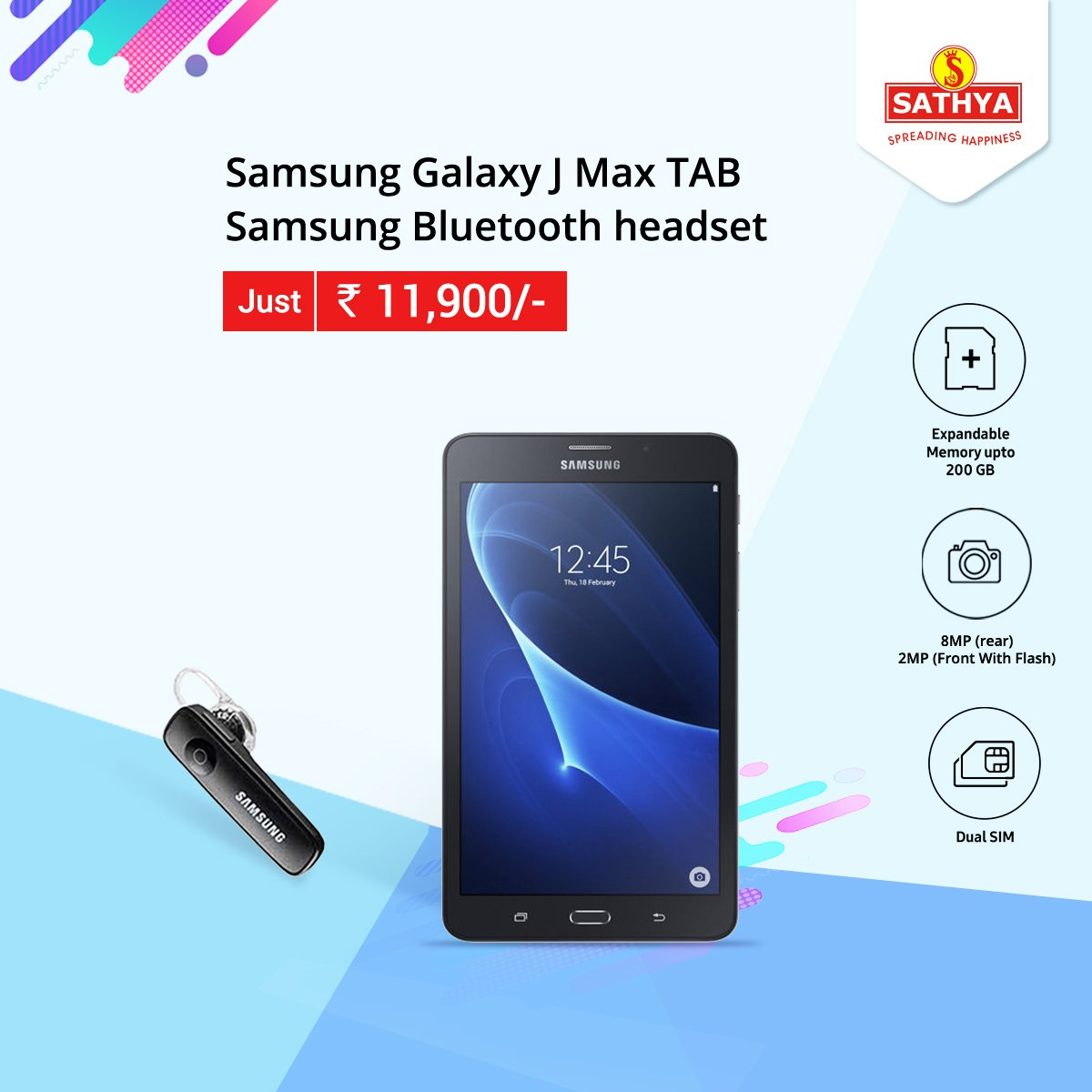 c4ba369ce Buy  Samsung Galaxy   Max Tab at Best price Sathya offers amazing offers  and discounts Also