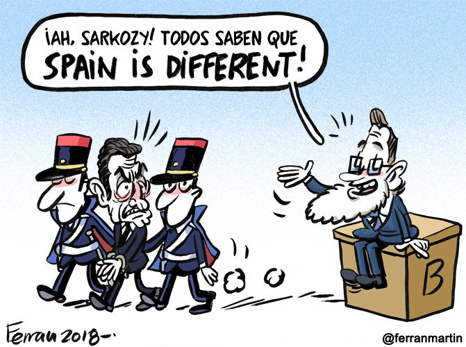 A todo #NadaQueOcultar fetén le llega su @ferranmartin como a Nicolas Sarkozy