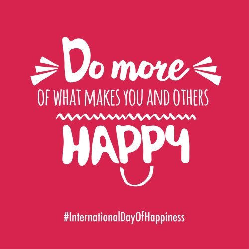 Bring more 😁 to the 🌍! #InternationalDayOfHappiness