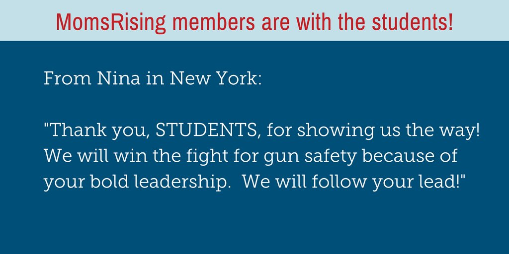 These students have been tirelessly fighting for #gunsafety and for a safer America for all. Show that you stand with them here: https://t.co/mmjXaRrwJ1  #NeverAgain #ENOUGH