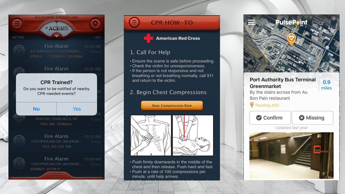 Find an AED or put your CPR training to use with these apps: https://t.co/y9GbL7LvvI