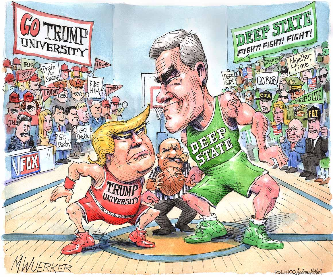 Trump University vs. Deep State – the latest from the desk of @Wuerker  See more: https://t.co/kGftplDxTx https://t.co/1Fl13kasE1