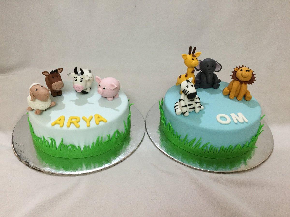 Wondrous Miras Dial A Cake On Twitter Twin Boy And Girl Om And Arya Funny Birthday Cards Online Inifodamsfinfo
