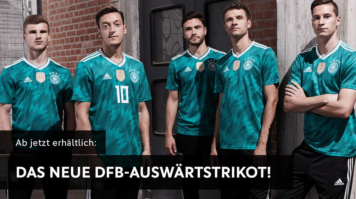 Das neue Auswärtstrikot ist da 🇩🇪😎 Ab sofort erhältlich im DFB-Fanshop und auf https://t.co/jD8UbYZ06g. #DieMannschaft #HereToCreate 👉🏼https://t.co/lLVP5QGk6A