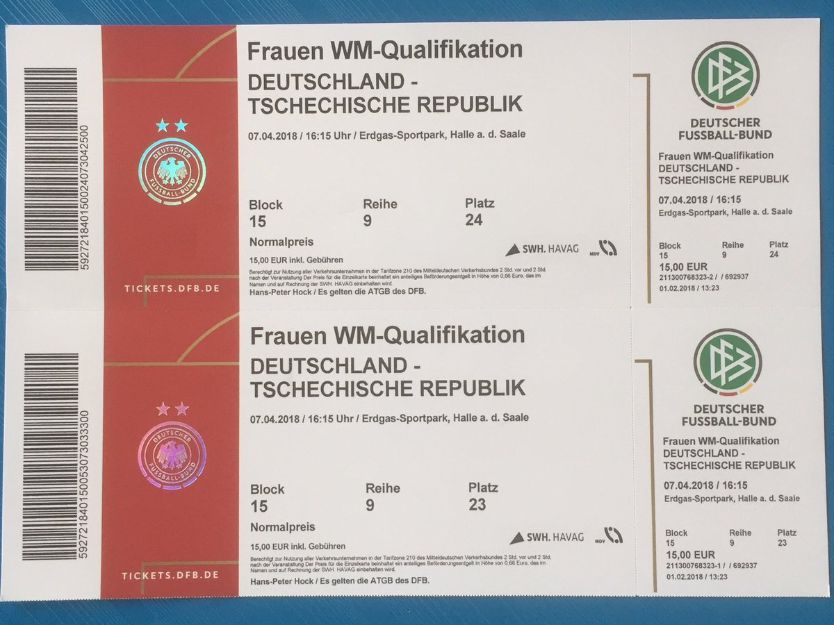 Tickets for the next match of the German...
