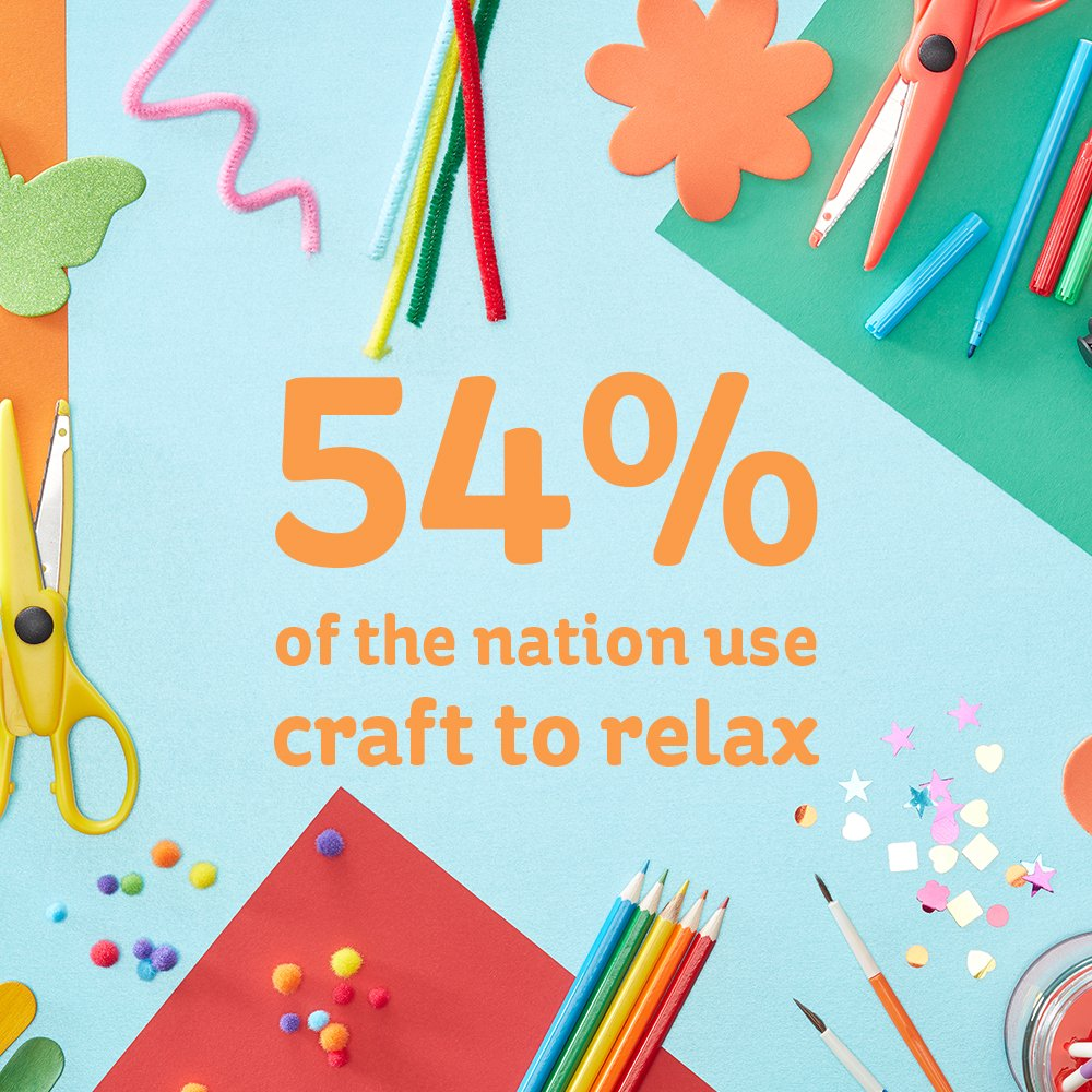 Its #InternationalDayofHappiness! We know 54% of you use craft to relax so why not celebrate by crafting and spread the happiness! #craftingisgoodforyou #celebratecraft #InternationalHappinessDay