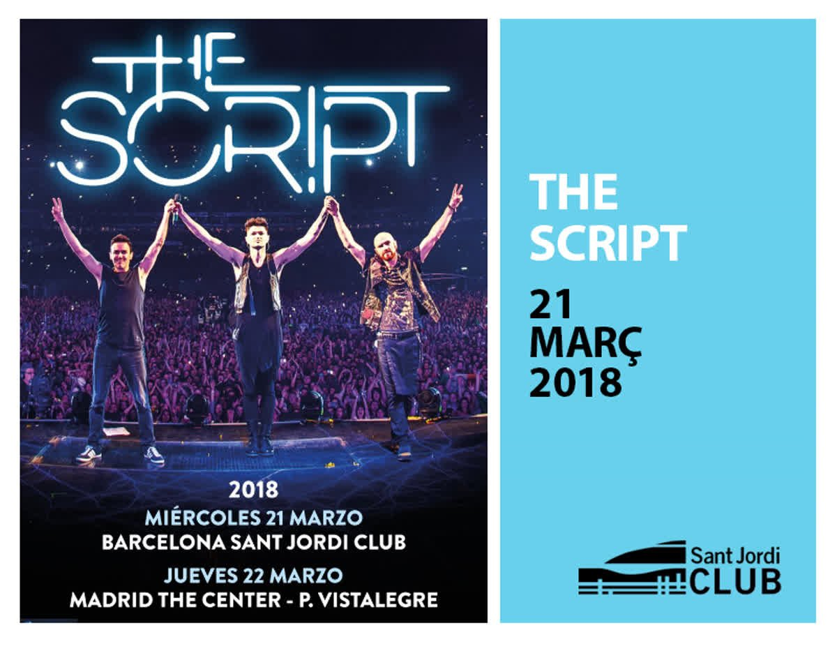 Demà tindrem THE SCRIPT en concert, horaris: 18:15h Early Entry 19h Apertura 19:45h @EllaEyre 21h @thescript