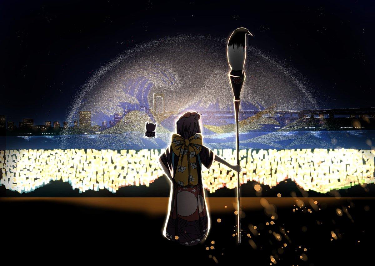 とと様よぉ、こんな絵が描けるようになるなんて生きてるうちにゃ想像もつかなかったねぇ #FGO #水辺を彩る江戸祭 #hokusaiTOKYO