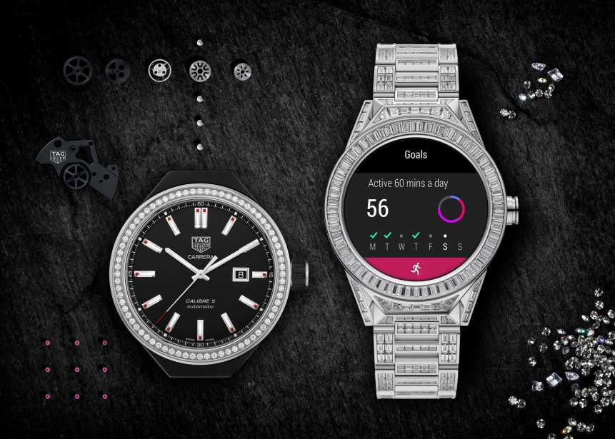 ba6cbcdb13e tag heuer takes the lead with diamond studded smartwatch blouinartinfo  blouin artinfo