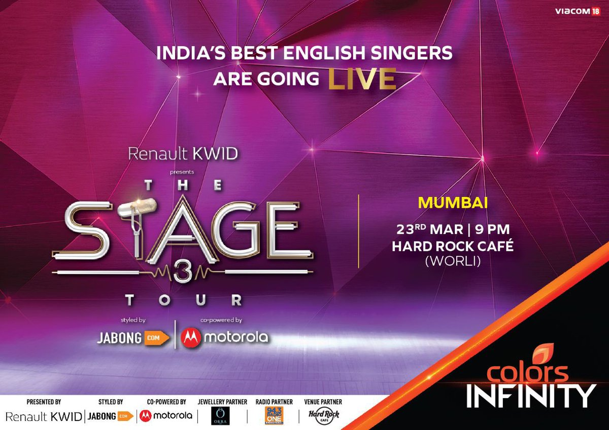 After winning hearts across the country, the Singers of #TheStage Season 3 are on the final leg of their Tour. Catch them live at @HRCIndia – Mumbai (Worli) this Fridayat 9PM. You don't wanna miss this!