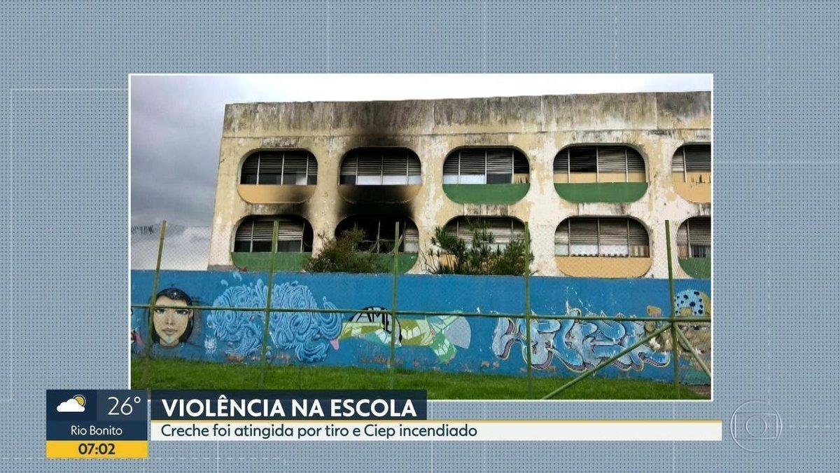 Ciep é incendiado e creche é atingida por tiro de fuzil, na Zona Norte do Rio https://t.co/FdAuTMSeYq #G1