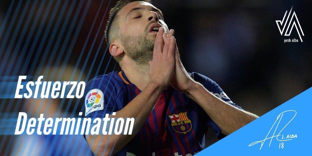 """""""No te dejes desanimar por los fracasos, aprende de ellos, y sigue adelante""""  #JordiAlba #Determination"""