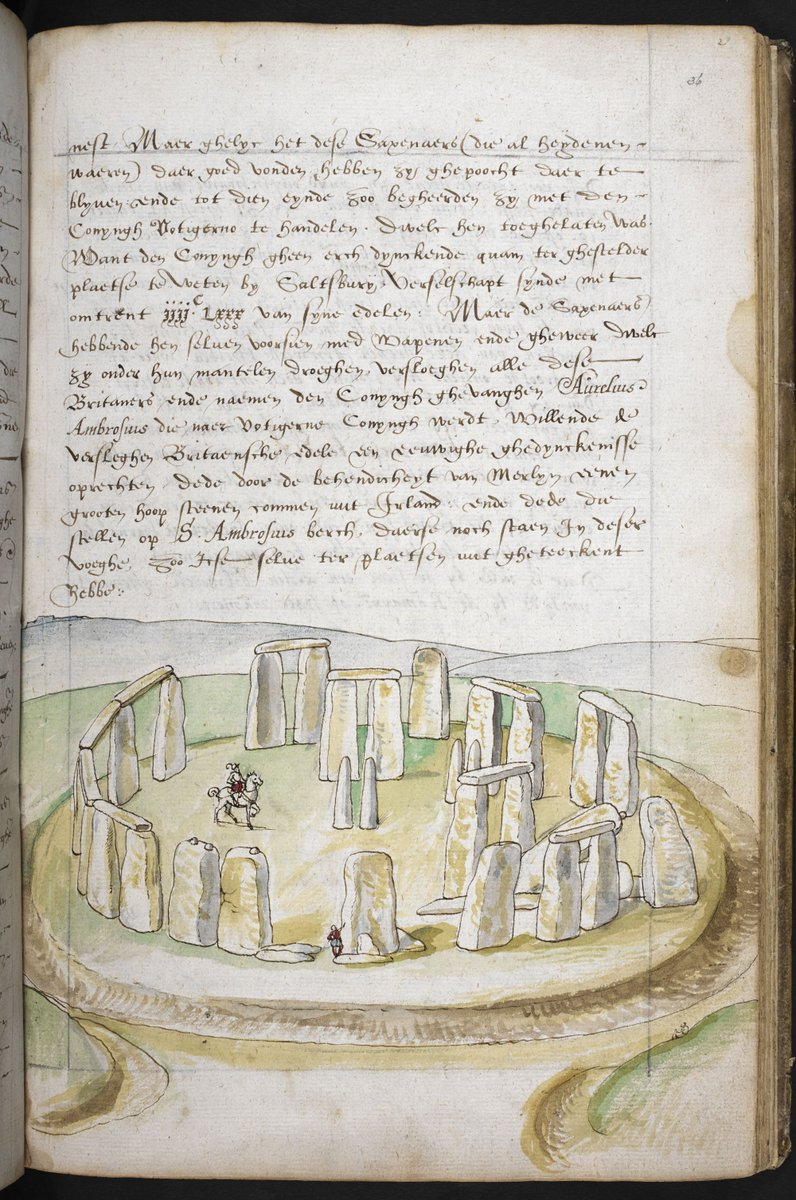 This c.1573-5 watercolour is one of the oldest depictions of Stonehenge, and the first to have been drawn on site. It illustrates Lucas De Heere's guidebook to Britain, entitled Corte Beschryvinghe van England, Scotland, ende Irland. https://t.co/CY5Cgs3PGK #EnglishTourismWeek
