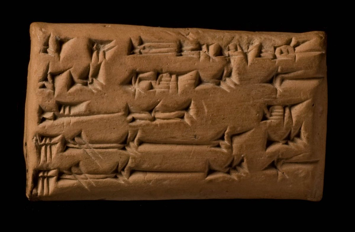 The #SpringEquinox is mentioned in this 3,000-year-old cuneiform tablet from ancient Mesopotamia – 'On the 6th day of Nisan the day and night were of equal length'