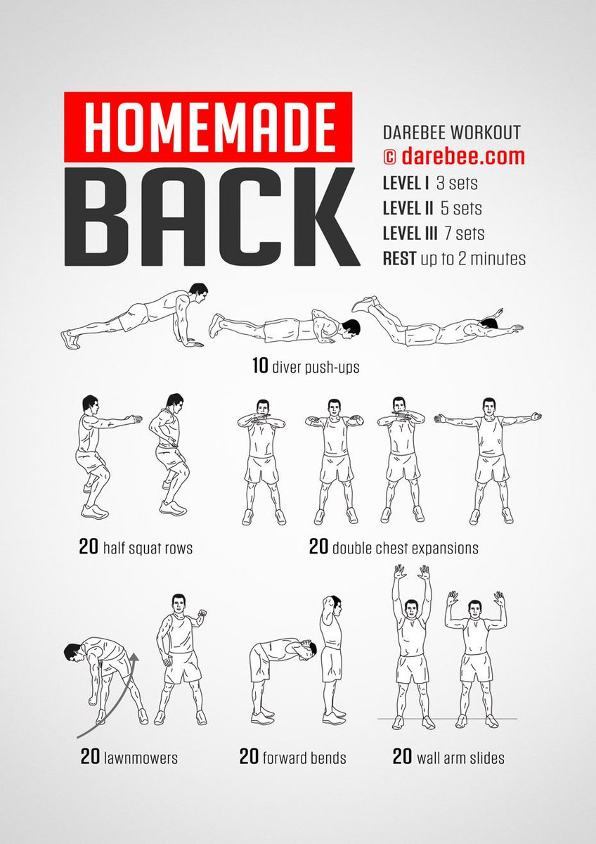 darebee on twitter workout of the day homemade back darebee wod. Black Bedroom Furniture Sets. Home Design Ideas