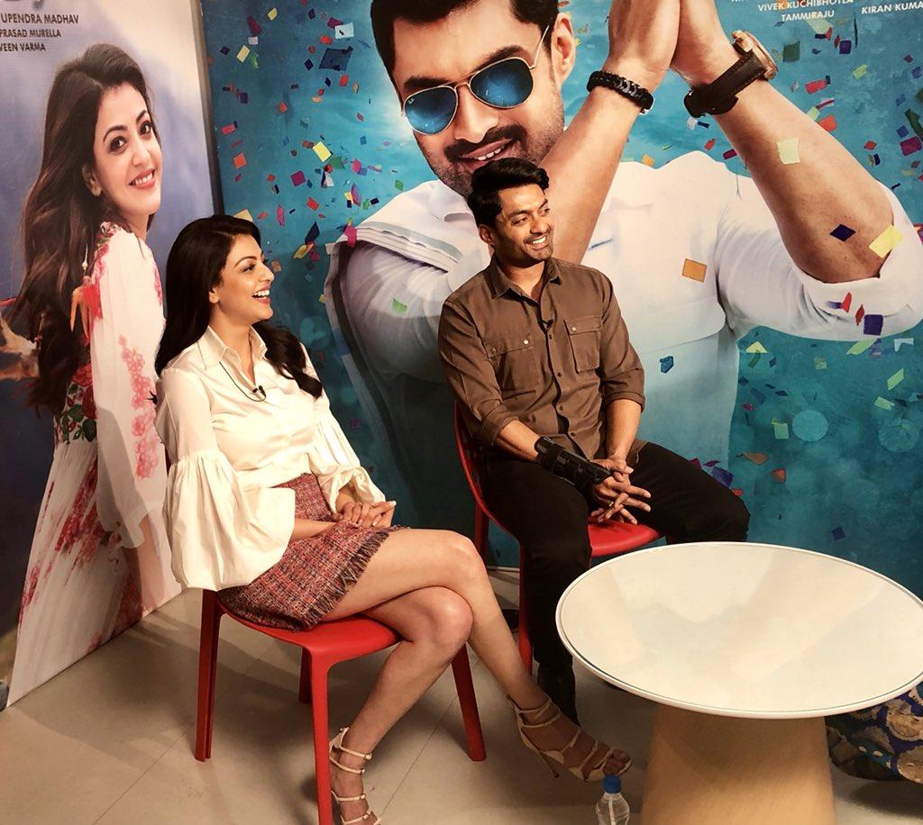 Kalyan Ram and Kajal participating in TV...